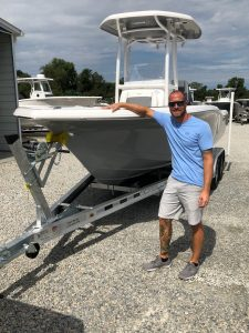 A customer with their 2019 Tidewater 210 CC from Jim's Marine in Galena, MD