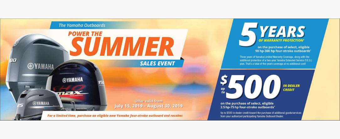 Yamaha summer 2019 Promo